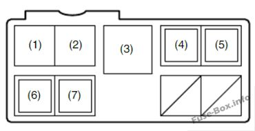 Under-hood fuse box diagram #1 (diesel): Fiat Sedici (2006, 2007, 2008, 2009, 2010, 2011, 2012, 2013, 2014)