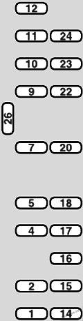 Instrument panel fuse box diagram: Fiat Ulysse II (2003, 2004, 2005, 2006, 2007, 2008, 2009, 2010)