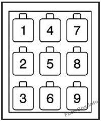 Relay Block A: GMC T6500, T7500, T8500 (2003, 2004, 2005, 2006, 2007, 2008, 2009, 2010)