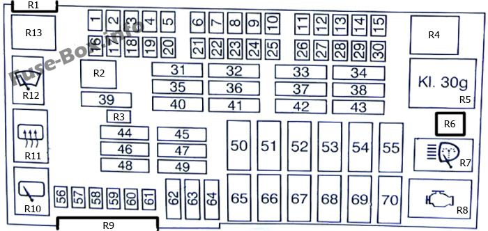 Fuse Box Diagram BMW 1-series (E81/E82/E87/E88; 2004-2013)