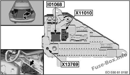 Fuse Box Diagram Bmw 5 Series E60 E61 2003 2010