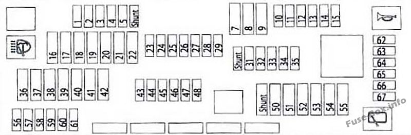 Fuse Box Diagram Bmw 7 F02  2009