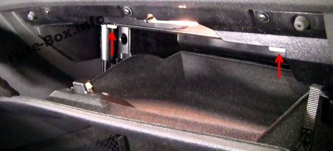 The location of the fuses in the passenger compartment: BMW X3 (2004, 2005, 2006, 2007, 2008, 2009, 2010)
