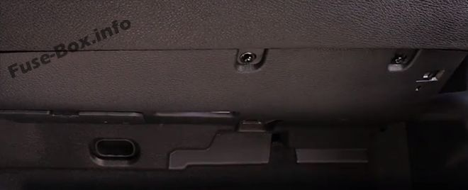 The location of the fuses in the passenger compartment: BMW X5 (2007, 2008, 2009, 2010, 2011, 2012, 2013)