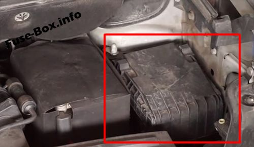 The location of the fuses in the engine compartment: Volkswagen Caddy (2011-2015)