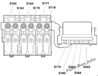 Under-hood fuse box diagram: Volkswagen Fox (2004, 2005, 2006, 2007, 2008, 2009)