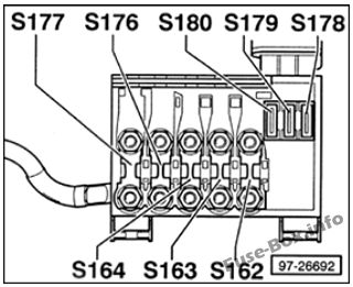 [DIAGRAM_38ZD]  Fuse Box Diagram Volkswagen Golf IV / Bora (mk4;1997-2004) | 2000 Vw Golf Fuse Box Diagram |  | Fuse-Box.info