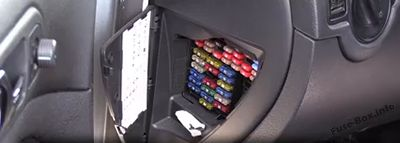 The location of the fuses in the passenger compartment: Volkswagen Golf IV / Bora (1997-2004)
