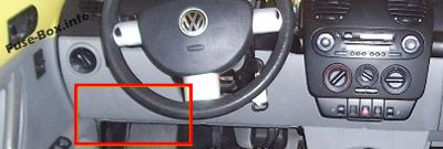 Relay panel: Volkswagen New Beetle (1998-2011)