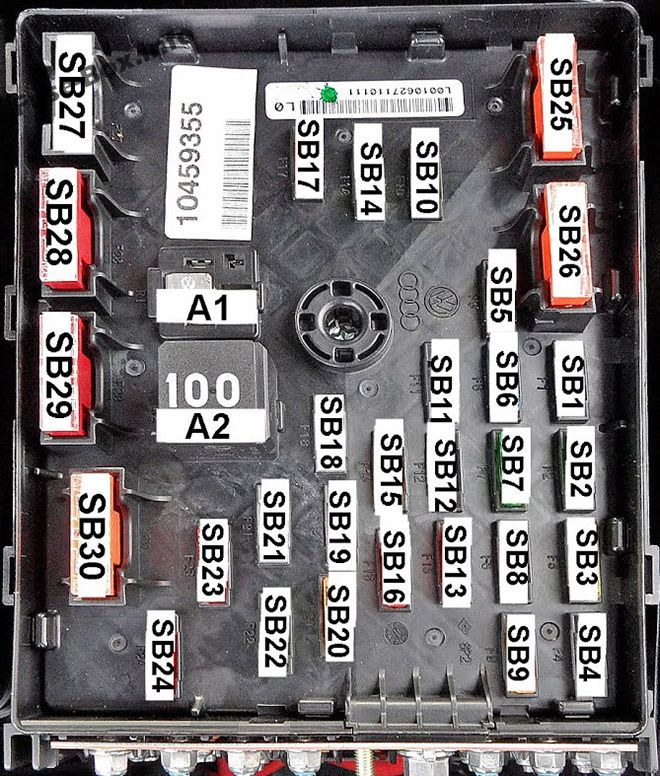 Fuse Box Diagram Volkswagen Passat B6 (2005-2010) | 2010 Passat Wagon Fuse Diagram |  | Fuse-Box.info