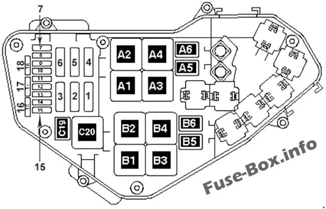 Fuse Box Diagram Volkswagen Touareg  2002