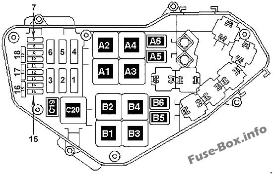 fuse box diagram volkswagen touareg 2011 2018. Black Bedroom Furniture Sets. Home Design Ideas