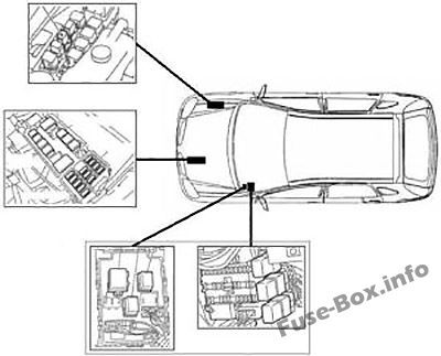 Fuse Box Diagram > Nissan Almera II (N16; 2000-2006) Nissan Almera Fuse Box Diagram on