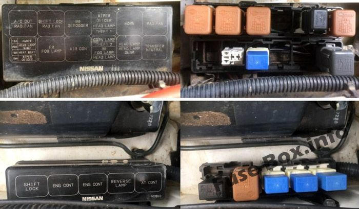 Fuse Box Diagram Nissan Patrol  Y61  1997