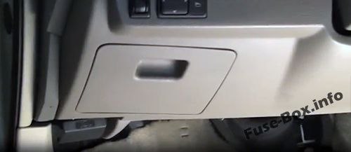 The location of the fuses in the passenger compartment: Nissan Teana (2003-2008)