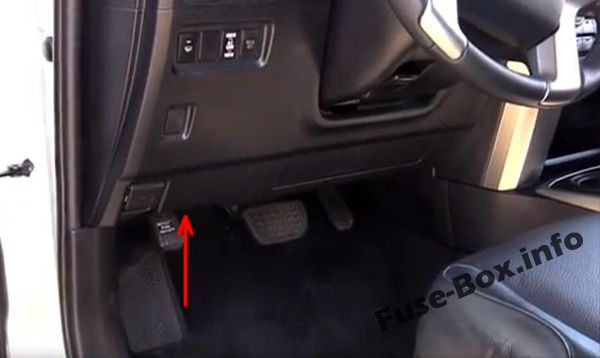 The location of the fuses in the passenger compartment: Toyota 4Runner (2010-2017)
