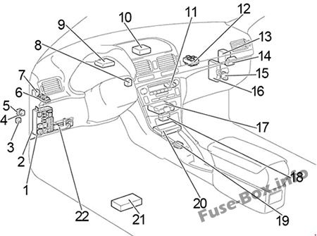Toyota Avensis Ii T25t250 2003 2009 Fuse Box Diagram