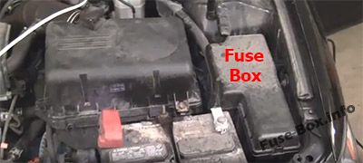 The location of the fuses in the engine compartment: Toyota Camry (2002-2006)