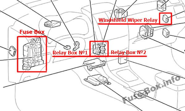 Fuse Box Diagram Toyota Corolla  E140  E150  2007