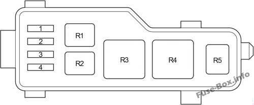 Relay Box: Toyota Corolla Verso (2004, 2005, 2006, 2007, 2008, 2009)