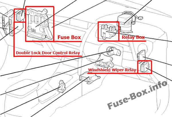 Fuse Box Diagram > Toyota Corolla / Auris (2013-2018)