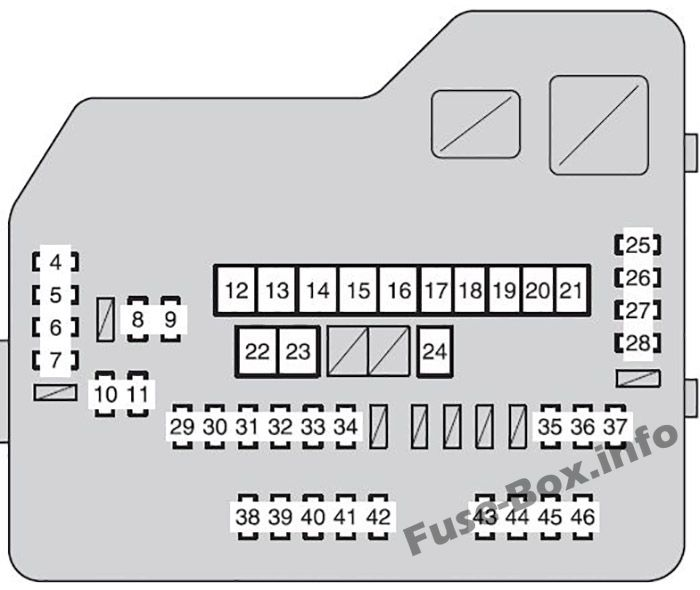 fuse box diagram toyota highlander (xu40; 2008-2013)  fuse-box.info