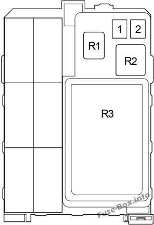 Instrument panel fuse box diagram: Toyota Hilux (2004-2015)