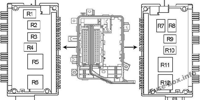 Under-hood fuse box diagram: Toyota Land Cruiser (2004, 2005, 2006, 2007)
