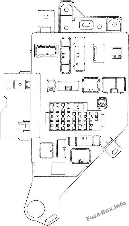 Fuse Box Diagram Toyota Land Cruiser 100 J100 1998 2007