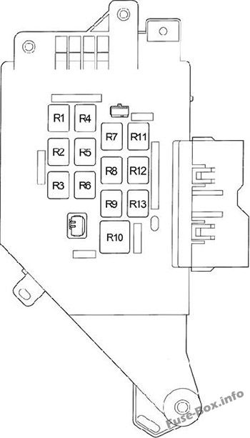 Instrument panel fuse box diagram: Toyota Land Cruiser (1998, 1999, 2000, 2001, 2002, 2003)