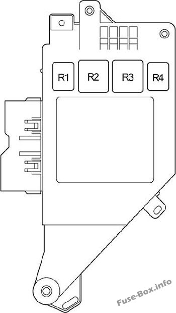 Fuse Box Diagram Toyota Land Cruiser 100 J100 1998 2007
