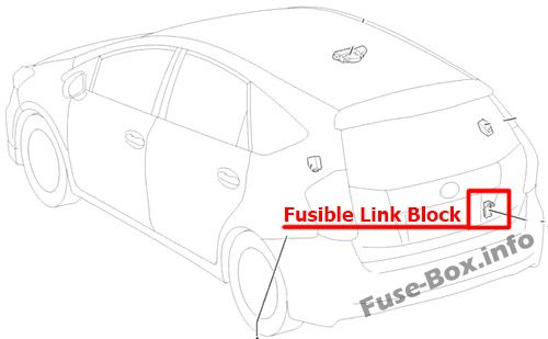 Fuse Box Diagram Toyota Prius V   Prius    Alpha 2012