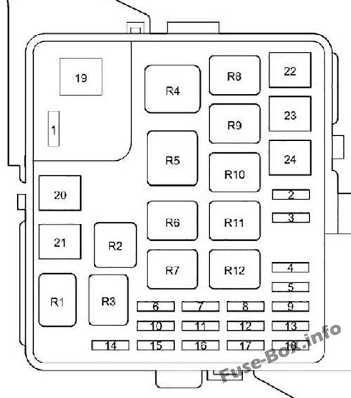 Under-hood fuse box diagram: Toyota Prius (2000, 2001, 2002, 2003)