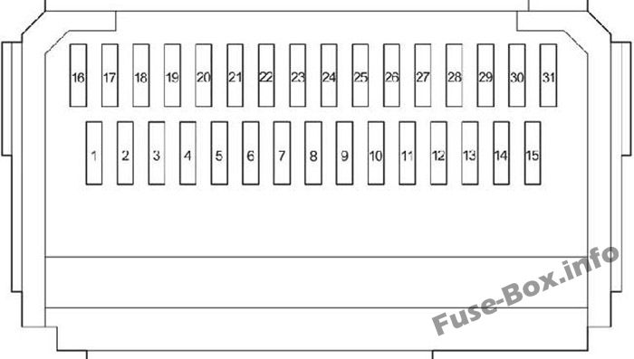 fuse box diagram toyota prius xw20 2004 2009. Black Bedroom Furniture Sets. Home Design Ideas