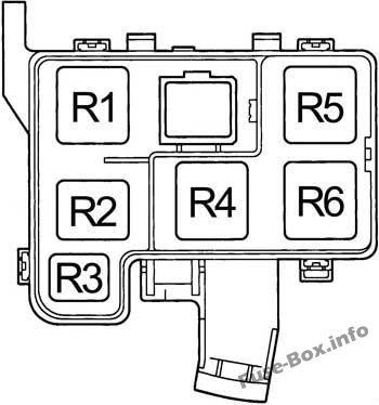 Engine Compartment Relay Box: Toyota RAV4 (1995, 1996, 1997)