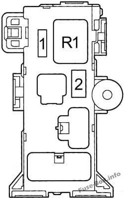 Instrument panel fuse box #3 diagram: Toyota RAV4 (1995, 1996, 1997)
