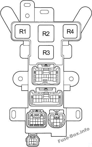 Passenger Compartment Relay Box: Toyota RAV4 (1995, 1996, 1997)