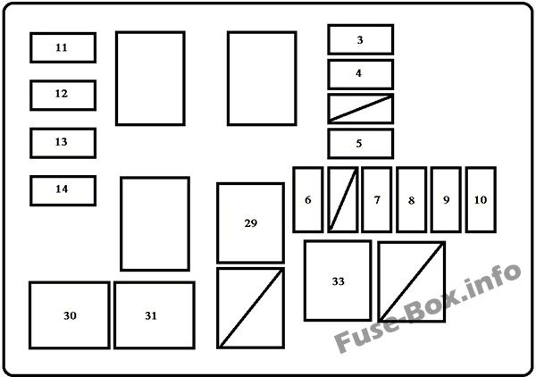 Under-hood fuse box diagram (w/DRL): Toyota RAV4 (1998, 1999, 2000)