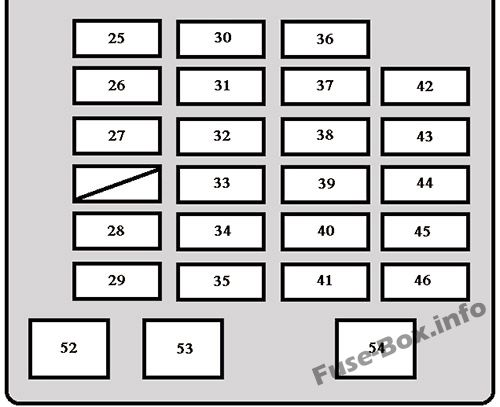 fuse box diagram toyota sequoia 2001 2007. Black Bedroom Furniture Sets. Home Design Ideas