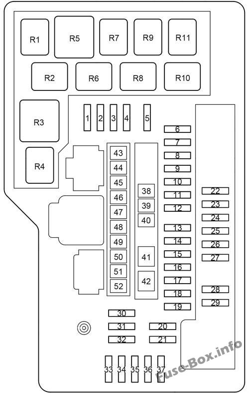Under-hood fuse box diagram: Toyota Venza (2009-2017)