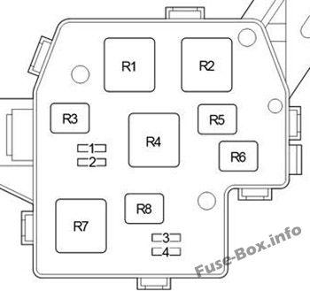 Relay Box No.2 (with DRL): Toyota ist / Urban Cruiser (2008-2016)