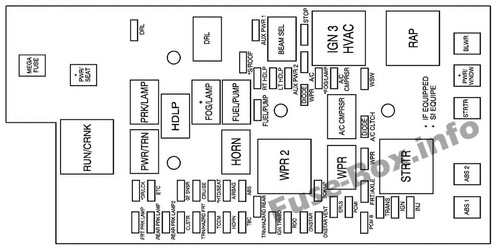 fuse box diagram chevrolet colorado 2004 2012. Black Bedroom Furniture Sets. Home Design Ideas