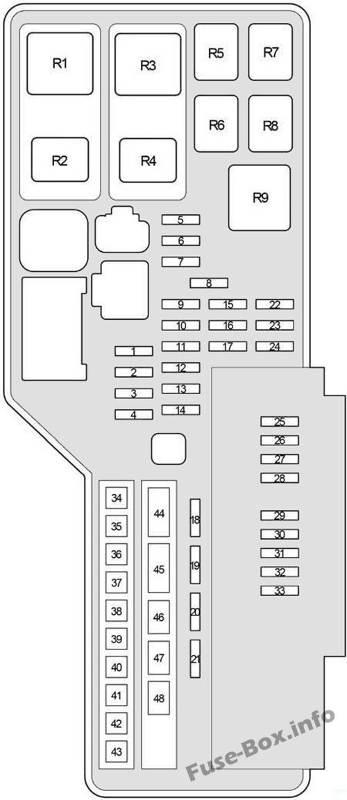 fuse box diagram lexus es350 xv40 gsv40 2006 2012. Black Bedroom Furniture Sets. Home Design Ideas