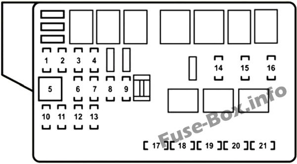 Fuse Box Diagrams  U0026gt  Lexus Gs350    Gs430    Gs460  2006