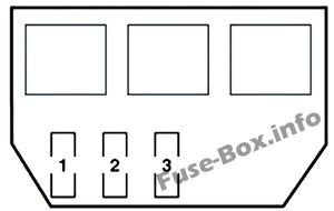 Additional Fuse Box: Lexus GS 350, GS 430, GS 460 (2006, 2007, 2008, 2009, 2010, 2011)