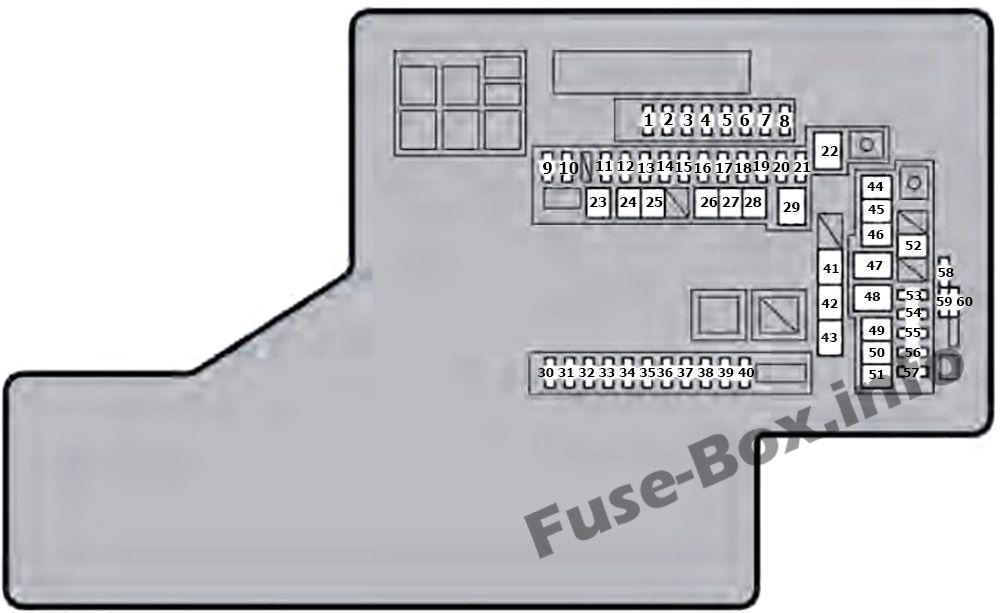 Under-hood fuse box diagram: Lexus GS 450h (2013, 2014, 2015, 2016, 2017)