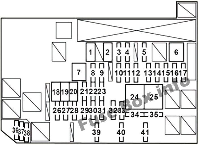 Under-hood fuse box diagram: Lexus HS 250h (2010, 2011, 2012, 2013)