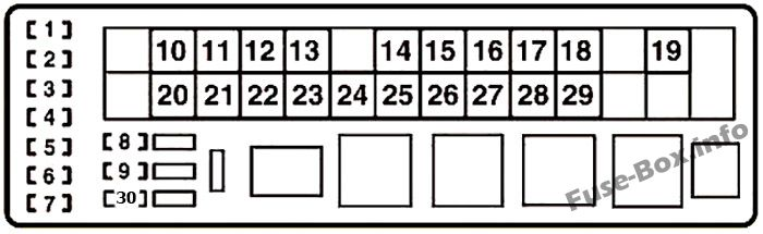 fuse box diagram lexus is250 / is350 (xe20; 2006-2013)  fuse-box.info