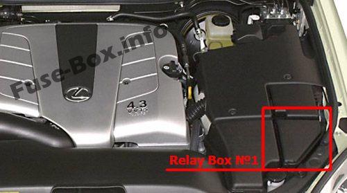 Engine Compartment Relay Box #1: Lexus LS 430 (2000-2006)