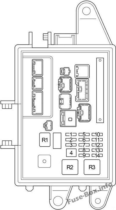 Trunk fuse box diagram: Lexus LS 430 (2000, 2001, 2002, 2003, 2004, 2005, 2006)